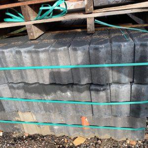 10x20 betonbanden zwart