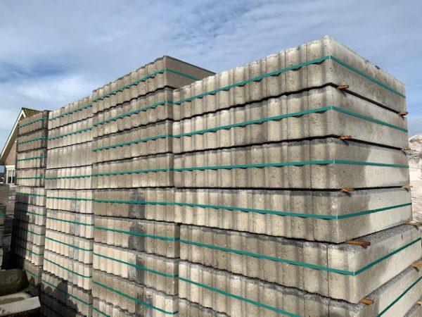 10x20 betonbanden met basalt laag