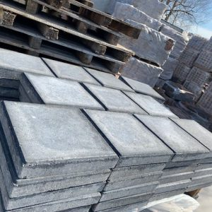 30x30 Tegels zwart 4.5 cm dik
